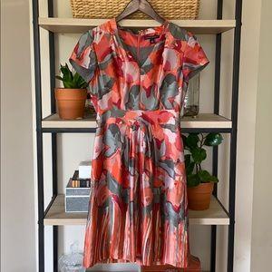 Banana Republic 100% Silk Watercolor Pocket Dress